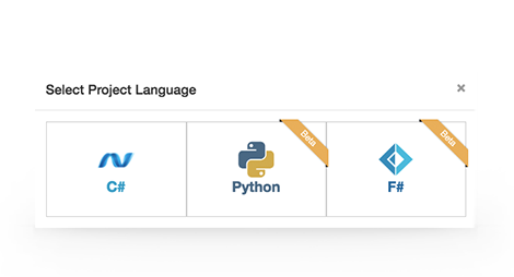 OANDA Algo Lab supports multiple languages, including C#, Python and F# with in browser auto-complete